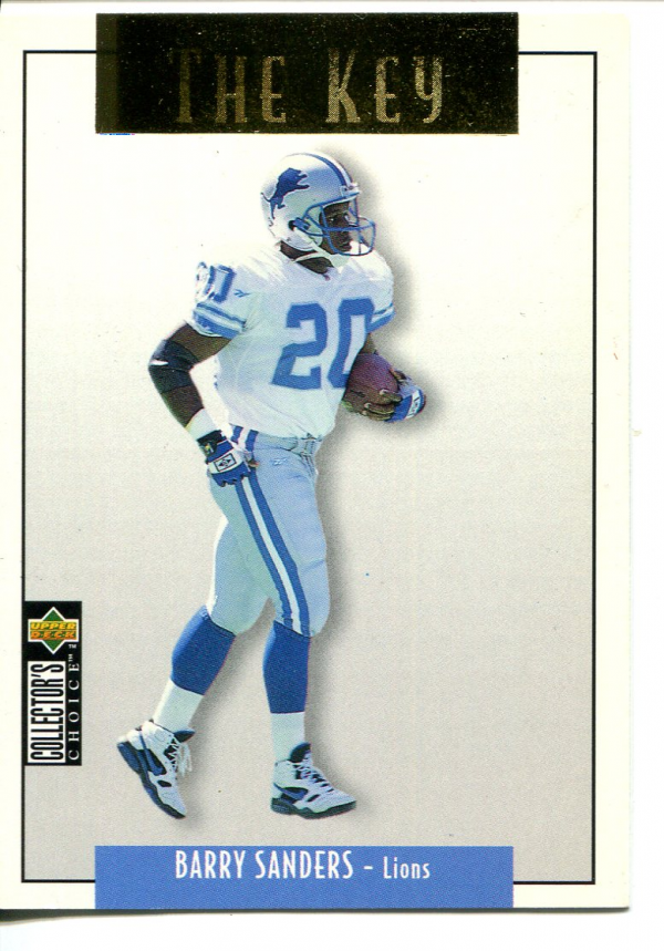 1995 Collector's Choice Update Gold #U62 Barry Sanders K
