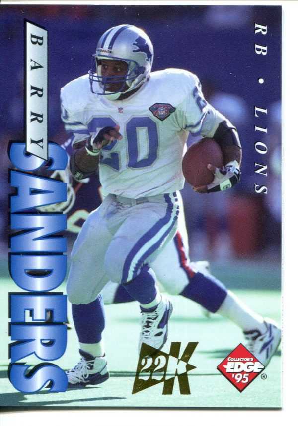 1995 Collector's Edge 22K Gold #69 Barry Sanders