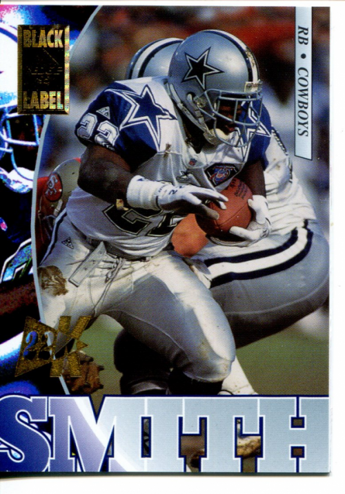 1995 Collector's Edge Black Label 22K Gold #56 Emmitt Smith back image