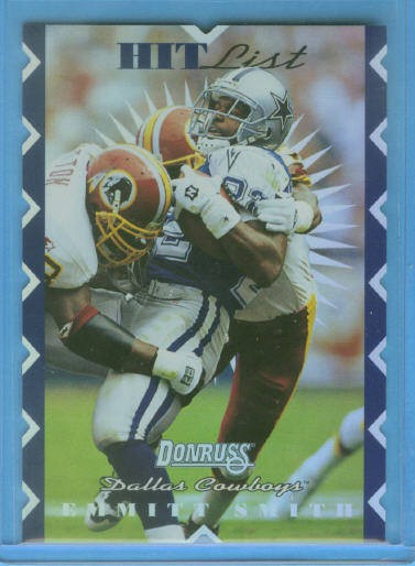 1996 Donruss Hit List #6 Emmitt Smith
