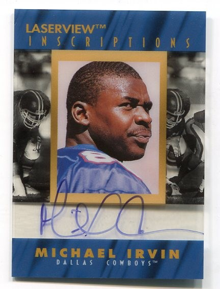1996 Laser View Inscriptions #13 Michael Irvin/3050