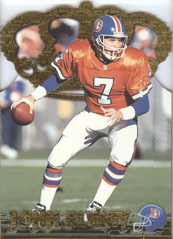 1996 Pacific Gold Crown Die Cuts #6 John Elway
