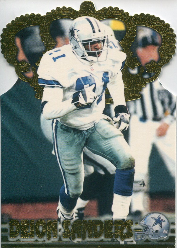1996 Pacific Gold Crown Die Cuts #8 Deion Sanders