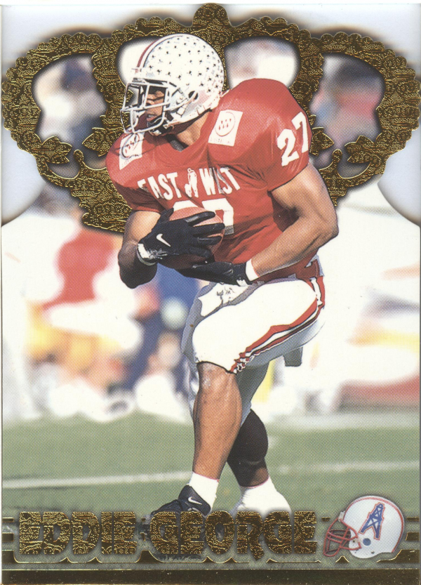 1996 Pacific Gold Crown Die Cuts #11 Eddie George