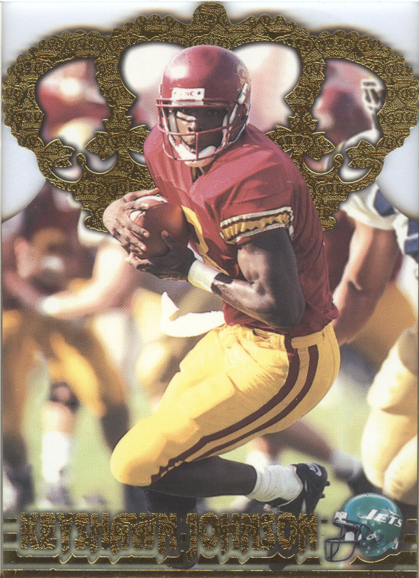 1996 Pacific Gold Crown Die Cuts #14 Keyshawn Johnson