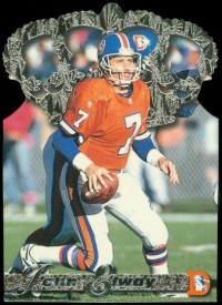 1996 Pacific Gold Crown Die Cuts Platinum #6 John Elway front image