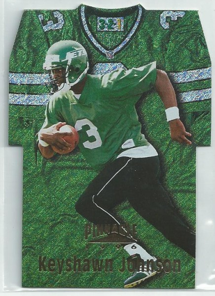 1996 Pinnacle Die Cut Jerseys Holofoil #16 Keyshawn Johnson