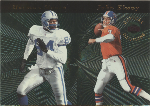 1996 Playoff Illusions Optical Illusions #5 J.Elway/H.Moore