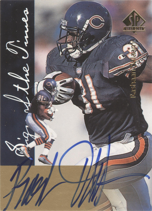 1997 SP Authentic Sign of the Times #26 Rashaan Salaam