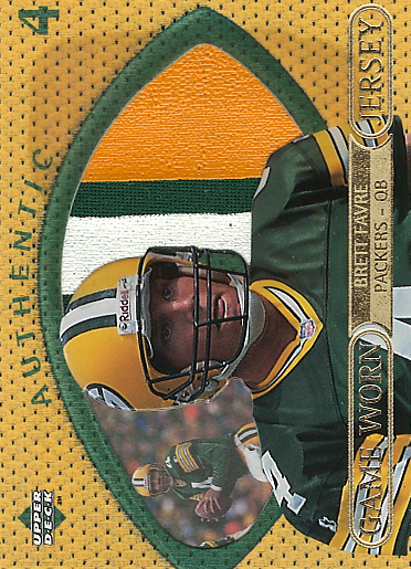 1997 Upper Deck Game Jerseys #GJ4 Brett Favre GRN