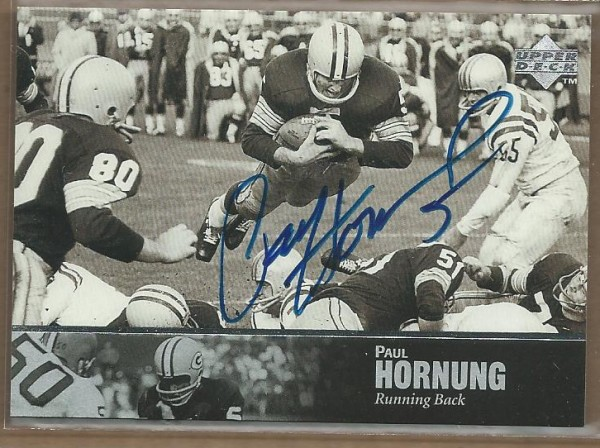 1997 Upper Deck Legends Autographs #AL40 Paul Hornung