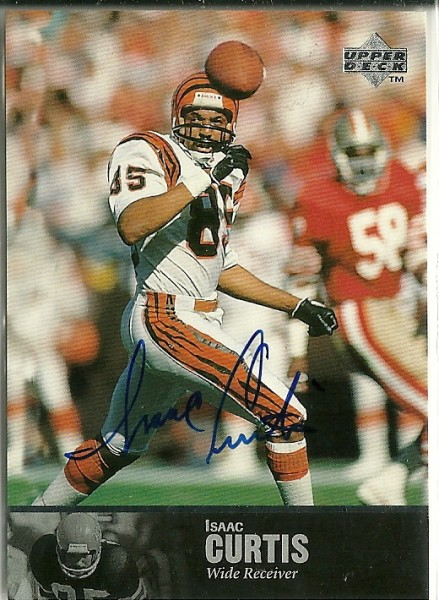 1997 Upper Deck Legends Autographs #AL94 Isaac Curtis