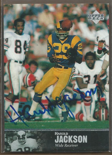 1997 Upper Deck Legends Autographs #AL118 Harold Jackson