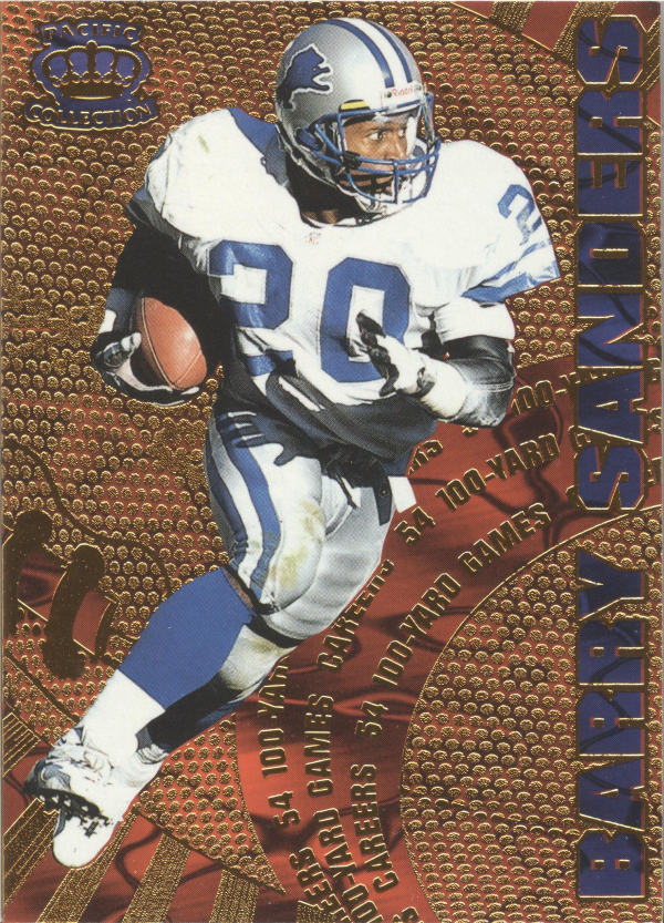 1997 Pacific Dynagon Careers #4 Barry Sanders