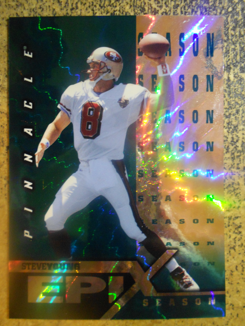 1997 Pinnacle Epix Emerald #E12 S.Young MOMENT