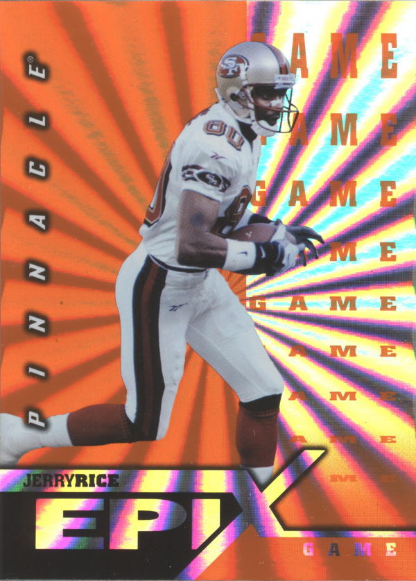 1997 Pinnacle Certified Epix #E19 J.Rice GAME