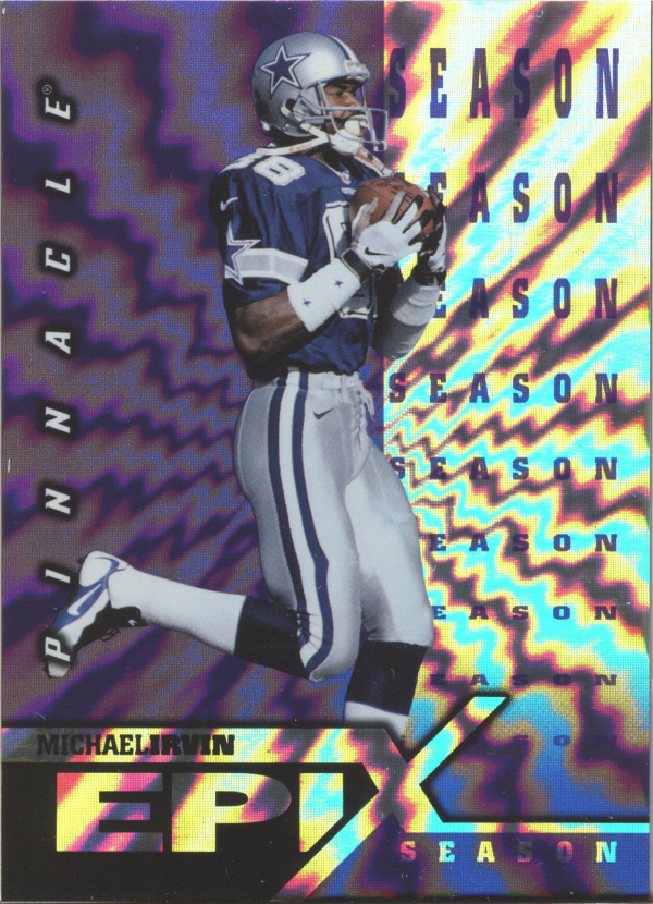 1997 Pinnacle Certified Epix Purple #E11 Michael Irvin SEASON