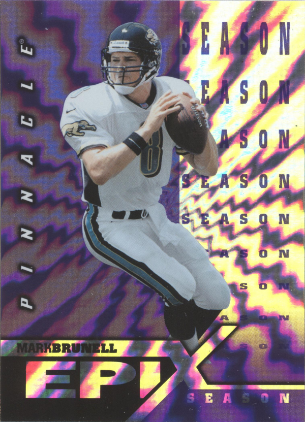 1997 Pinnacle Certified Epix Purple #E13 M.Brunell SEASON