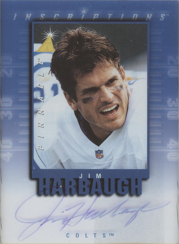 1997 Pinnacle Inscriptions Autographs #14 Jim Harbaugh/1975