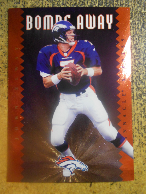 1997 Pinnacle X-Press Bombs Away #7 John Elway