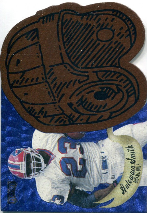 1997 Playoff Contenders Leather Helmet Die Cuts Blue #11 Antowain Smith