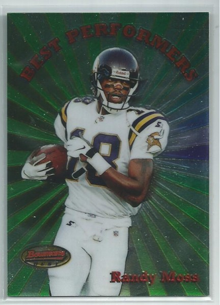 1998 Bowman's Best Performers #BP5 Randy Moss