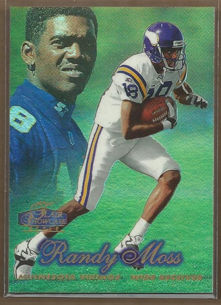 1998 Flair Showcase Row 2 #5 Randy Moss
