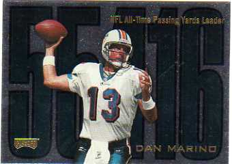 1998 Playoff Prestige Inside the Numbers Non-Die Cut #5 Dan Marino