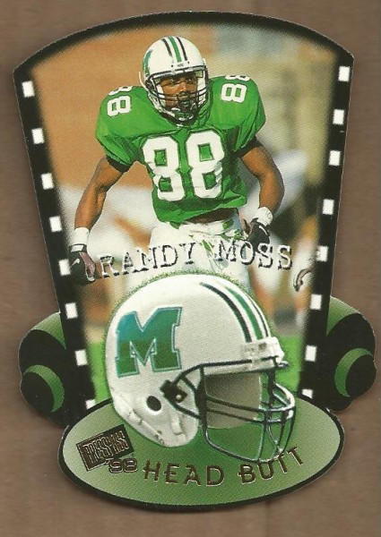 1998 Press Pass Head Butt Die Cuts #HB7 Randy Moss