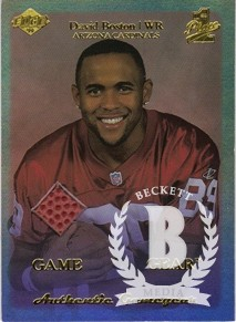 1999 Collector's Edge First Place Rookie Game Gear #RG10 David Boston