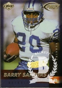 1999 Collector's Edge Fury Gold Ingot #116 Barry Sanders