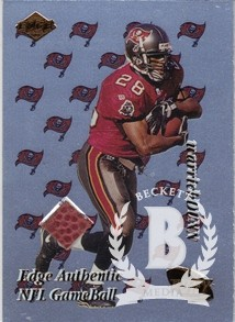 1999 Collector's Edge Fury Game Ball #WD Warrick Dunn