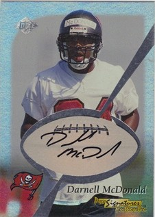 1999 Collector's Edge Odyssey Pro Signature Authentics #15 Darnell McDonald/2435