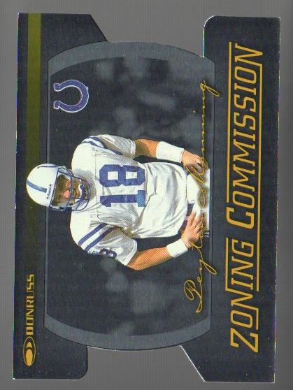 1999 Donruss Zoning Commission #4 Peyton Manning