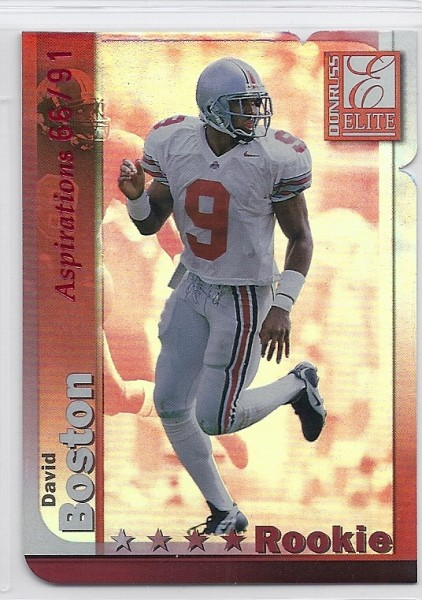 1999 Donruss Elite Aspirations #164 David Boston/91
