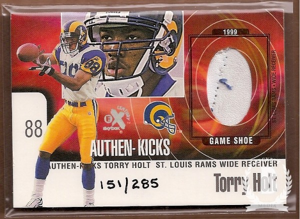 1999 E-X Century Authen-Kicks #6AK Torry Holt/285