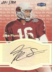 1999 Fleer Mystique Fresh Ink #25 Jake Plummer/300 front image