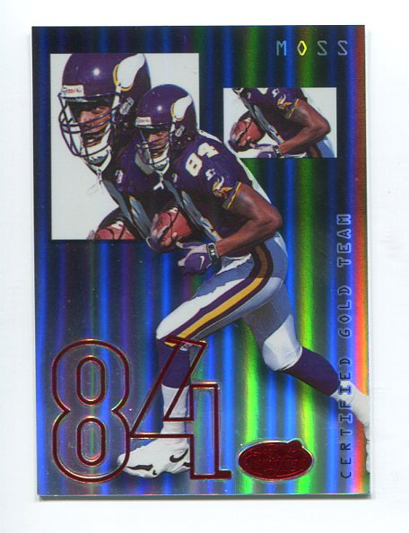 1999 Leaf Certified Gold Team Mirror Black #1 Randy Moss
