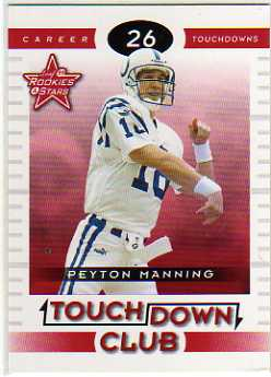 1999 Leaf Rookies and Stars Touchdown Club #TC7 Peyton Manning
