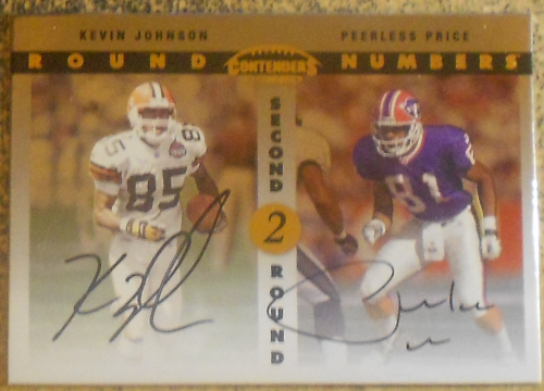 1999 Playoff Contenders SSD Round Numbers Autographs #RN1 Kevin Johnson/Peerless Price