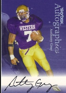 1999 SkyBox Premium Autographics #34 Anthony Gray MM/MU/S
