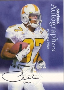 1999 SkyBox Premium Autographics #65 Peerless Price EX/MM