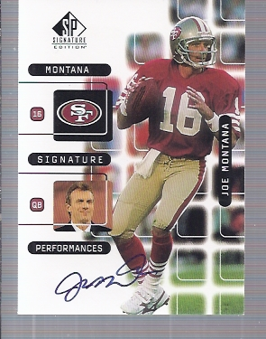 1999 SP Signature Montana Signature Performances #J4A Joe Montana