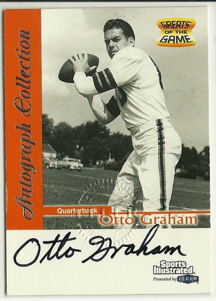 1999 Sports Illustrated Autographs #8 Otto Graham