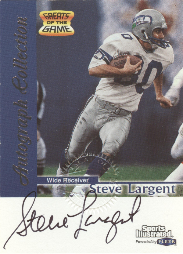 1999 Sports Illustrated Autographs #14 Steve Largent