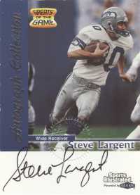 1999 Sports Illustrated Autographs #14 Steve Largent front image