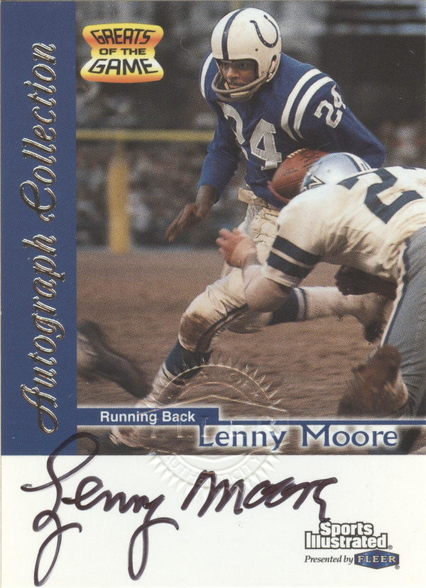 1999 Sports Illustrated Autographs #20 Lenny Moore