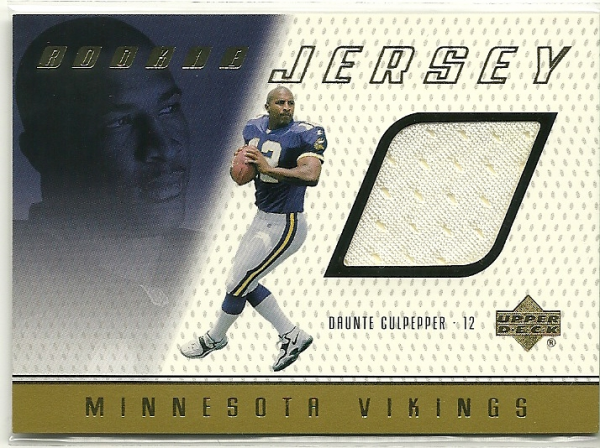 1999 Upper Deck Game Jersey #DC Daunte Culpepper H