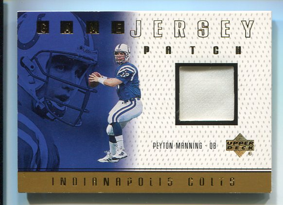 1999 Upper Deck Game Jersey Patch #PMP Peyton Manning