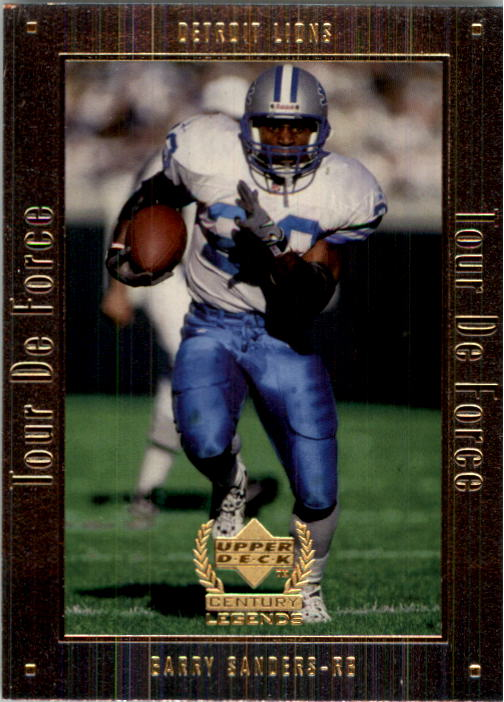 1999 Upper Deck Century Legends Tour de Force #A8 Barry Sanders